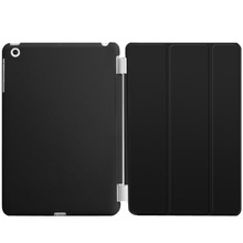 2015 Ultra Thin Magnetic black Smart Case Cover + Back Case For iPad mini