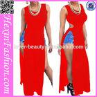Top quality wholesale sexy check plus size maxi dress