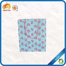 Wholesale pink polka dot custom paper bag printing cord handle