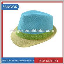 Branded original fashion men's straw fedora hat