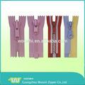 Extremo abierto / cerrar longitud de encargo y de color varios de plástico de la cremallera para venta al por mayor