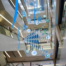 Océan style led poissons et d'étoiles de mer suspendus décoration pour mall