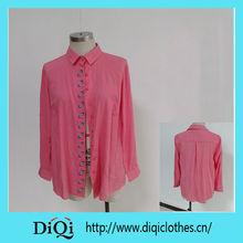 Clothing fashion OEM Sex Ladies chiffon floral Tops 2014 ,woman clothing ,woman wear