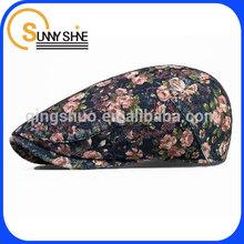 Sunny Shine custom wholesale cheap fashion corduroy fabric hat beret