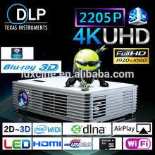 Hot Selling Projector / Blu-ray 3D Ultra HD Projector / 1080P to 2205P Ultra HD Projector