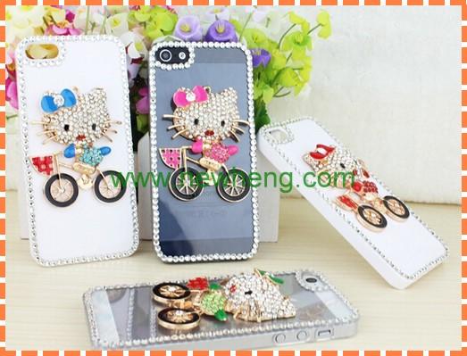 Luxury Bling Diamond hard pc case for iphone5s