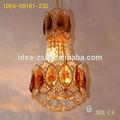 Chandelier grande diseñadores crystal atlantis cristal accesorios de iluminación hoteles forjado lámpara de pie de hierro