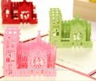 3D laser card Paris Notre Dame card christmas card