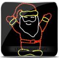 animados 3d cristal de santa claus
