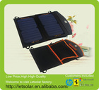 2014 solar green product 12W solar pack mobile phone solar charger solar panel foldable solar charger bag for iPhone 5