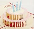 feliz birday pastel de la tarjeta de felicitación 3d láser tarjetas hechas a mano
