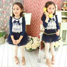2014 new design lovely rabbit girls' dresses&T-shirts for summer children girl dress