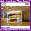 2014 Hot sale wooden modern beauty salon furniture reception desk