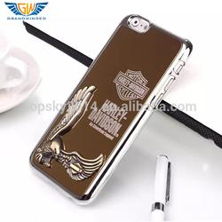 "Luxury eagle design aluminum+PC chrome mobile cover for iPhone 6 6G case 4.7"""