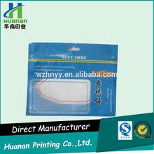 Custom printed soft plastic fishing lure bag with ziplock