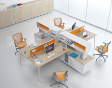 2014 Italy style modern workstation office furniture with high cabinet