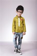 2014 balabang venda quente da moda manga longa verificar camisa meninos