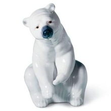 2014 PFM hot sale natural marble made hand carved small marble stone bear sculpture
