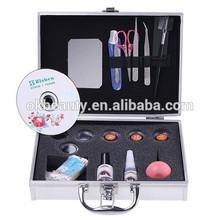 Pro Eye Lash False Eyelashes Extension Kit Full Set With Silver Color Case