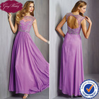 Goingwedding Ladies Party Wear Gown Arabic Style Prom Dresses Bridesmaid Dresses Keyhole Back Quinceanera Dresses in PurplePM025