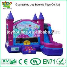 princess castle bouncer inflatable combo,princess jumping castle