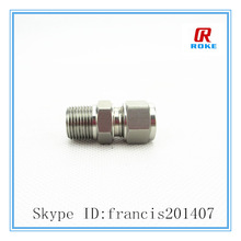 double ferrule tube connected npt male connector fitting