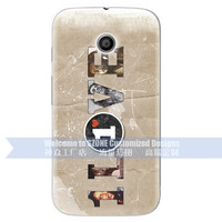 Brand BUSTYLE Mobile Case For Moto E Cover character I LOVE design wholesale