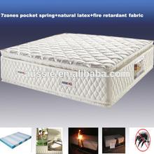 5star hotel bed foam spring latex matress