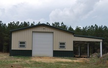 low cost prefabricated steel warehouse with Lean-to