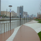 Eco friend water proof outdoor WPC non-slip wood feeling decking