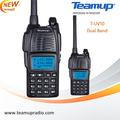 T-uv10 de doble banda 5w transmisor-receptor portátil con radio fm