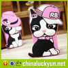 Customized OEM charming dog silicone beautiful mobile phone covers