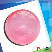 2014 Hot Sale Children Hollow Rubber Ball Kids Bouncing Clear Plastic Balls