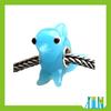 European animal beads glass blue bead landing