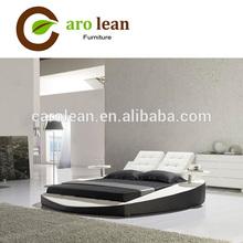 C307 2014 Lastest Design Modern Black Leather Bed