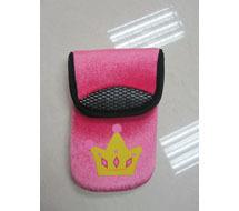 Neoprene cell phone neck bag