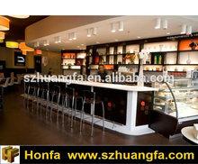 white artificial marble cafe bar countertops