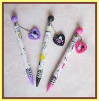 School manual ball pen with rhinestone