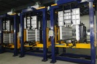 branded 14 station compact structure Upright refrigerator linear cabinet foaming production manufacturing line