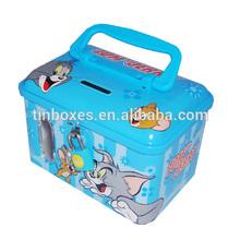 square money tin box for save money