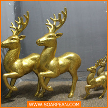 christmas decoration for festival gold deer