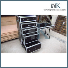 4 drawer Flight Case with Detachable Cover