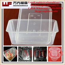 OEM Custom plastic box mold/plastic lunch box mold made in China/molde caja de plastico