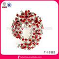 Populares de europa de plata broche de diamantes de imitación broche del Pin a granel para la muchacha