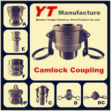 """female camlock coupling, 1/2""""-6"""", A/B/C/D/E/F/DC/DP, OEM Manufacturer"""
