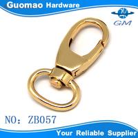 Light gold zinc alloy metal key chain snap hooks