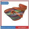 mais popular e original grande de palha bolsa de palha cesta
