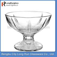 LongRun 230g Anhui Bengbu glass factory custom glass ice cream glass cup