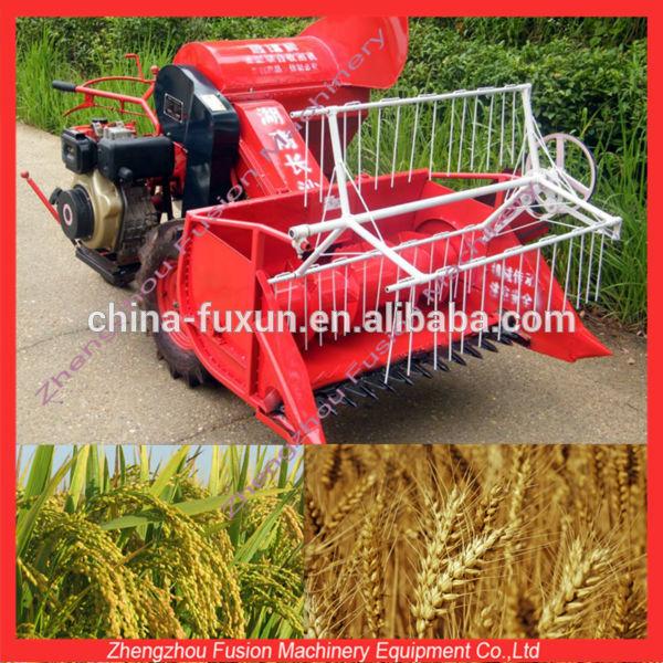 Usado new holland combinar colheitadeira / trator colheitadeira para o trigo / cortador de trigo mini-colhedora