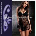 ml17698 2014 venta al por mayor ropa interior ropa de noche de ver a través de adultos muñeca pijamas sexy negro transparente muñeca